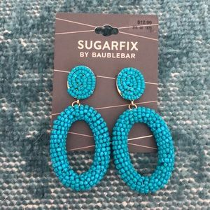 Sugarfix by BaubleBar Beaded Hoop Earrings- NWT
